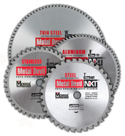 "MK Morse CSM53850CLTSC - Metal Cutting Circular Saw Blade 5-3/8"" 50T, Thin Steel, Made for Cordless Metal Saws, 20-10mm Arbor"
