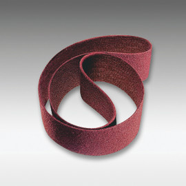 "Sia Abrasives - 3""W x 24""L Sanding Belt 150 Grit Non-Woven, Maroon"