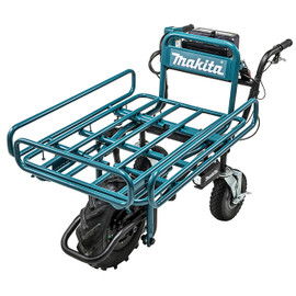 Makita DCU180ZX1 - 18V x2 LXT Power-Assisted Brushless Wheelbarrow with Flatbed Tray