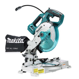 "Makita DLS600Z - 6-1/2"" Cordless Dual Compound Mitre Saw with Brushless Motor & Laser"