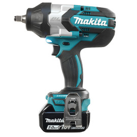 "Makita DTW1002RTE - 1/2"" Cordless High Torque Impact Wrench with Brushless Motor"