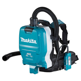 Makita DVC265ZXU - 18Vx2 LXT Cordless Backpack Vacuum Cleaner with AWS (2.0 L)