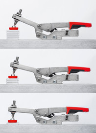 Bessey STC-HH20 - Clamp, toggle clamp, horizontal low profile, flanged base