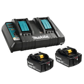 Makita Y-00315 - 18V 2 x 4.0Ah Li-Ion Battery & Dual-Port Rapid Charger Kit