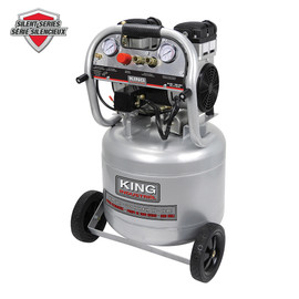KING KC-10020SQ - 10 Gallon ultra quiet oil-free air compressor