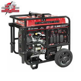 KING KCG-15000GE - 15,000W Gasoline Generator with Electric Start and Wheel Kit