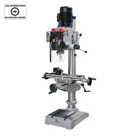 KING KC-40HC-6 - Gearhead milling drilling machine - R8 spindle (550V) - with limit switch