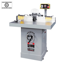 "KING KC-366SH - 5 HP 1-1/4"" Industrial shaper with digital readout"