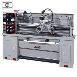"KING KC-1440ML-2/KM-054 - 14"" x 40"" Gearhead metal lathe with taper attachment - with 2"" spindle bore"