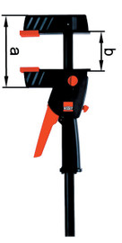 Bessey DUO16-8 - Clamp, one hand, DuoKlamp Series, 3 1/4 In. x 6 In., 260 LB