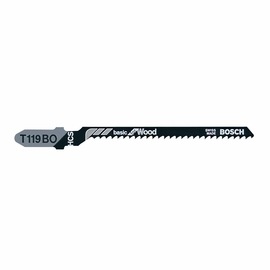 Bosch T119BO - Jig Saw Blade, T-Shank, 5 pc. 3-1/4 In. 12 TPI Basic for Wood