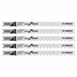 Bosch U101D3 - Jig Saw Blade, U-Shank, 3 pc. 4 In. 6 TPI Clean for Wood