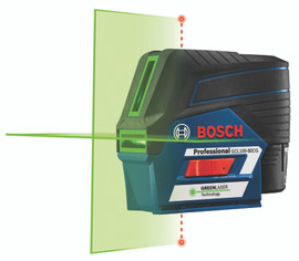 Bosch GCL100-80CG - 12V Max Connected Green-Beam Cross-Line Laser with Plumb Points