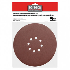 "KING SD-878-K-120 - 5 PC. 8-7/8"" -120 GRIT SANDING PAPER KIT"