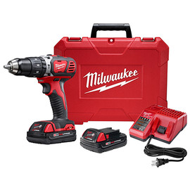 "Milwaukee 2607-21CT - M18™ Compact 1/2"" Hammer Drill/Driver Kit"