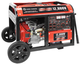 King Canada KCG-12000GE - 12000W gasoline generator with electric start & wheel kit