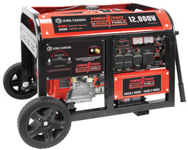 King Canada KCG-12001GE-DF - Gasoline/propane generator with electric start