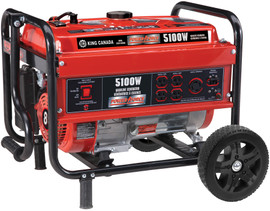 King Canada KCG-5100G - 5100W gasoline generator with wheel kit