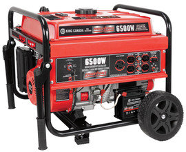 King Canada KCG-6502GE - 6500W gasoline generator with electric start & wheel kit