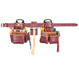 Kuny's 21453 - 18 Pocket Top of the Line Pro Framer's Heavy Duty Leather Combo System