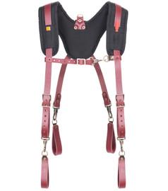 Kuny's 21522 - Fully Adjustable, Padded Yoke Leather Suspenders
