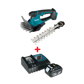 "Makita DUM604ZX - 18V LXT 6-5/16"" Grass Shear With 7-7/8"" Hedge Trimmer Attachment Included + Free 4.0Ah Battery and Charger"