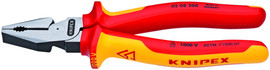 Knipex 0208200US - 8'' High Leverage Combination Pliers-1,000V Insulated