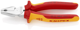 Knipex 0206180 - 7 1/4'' High Leverage Combination Pliers-1,000V Insulated