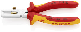 Knipex 1106160 - 6 1/4'' End-Type Wire Stripper Chrome Plated-Multi-Component 1,000V Insulated
