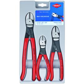 Knipex 002005US - 3 Pc Diagonal Cutters Set (6 1/4, 8 & 10)