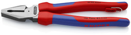 Knipex 0202225TBKA - 9'' High Leverage Combination Pliers-Comfort Grip-Tethered Attachment