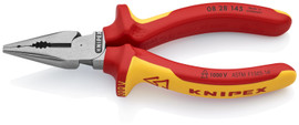 Knipex 0828145SBA - 5 3/4'' Needle-Nose Combination Pliers-1,000V Insulated