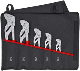 Knipex 001955S4 - 5 Pc Pliers Wrench Set (86 03 125, 86 03 150, 86 03 180, 86 03 250, 86 03 300)