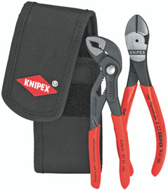 Knipex 002072V02 - 2 Pc Mini Pliers In Belt Pouch 74 01 160 And 87 01 125
