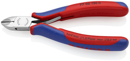 Knipex 7702120H - 4.75'' Electronics Diagonal Cutters w/ Carbide Metal Cutting Edges-Comfort Grip