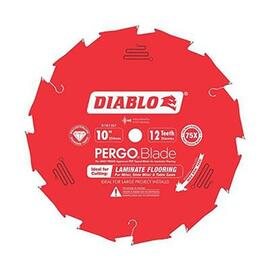 "D1012LFC 10"" x 12-Tooth Polycrystalline Diamond (PCD) Tipped Ultimate Flooring Blade"
