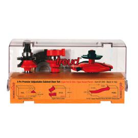 Freud -  3 Piece Premier Adjustable Cabinet Bit Set - 97-260