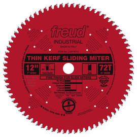 "Freud -  12"" Thin Kerf Sliding Compound Miter Saw Blade - LU91R012"