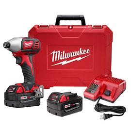 "Milwaukee 2657-22 - M18™ 2-Speed 1/4"" Hex Impact Driver Kit"