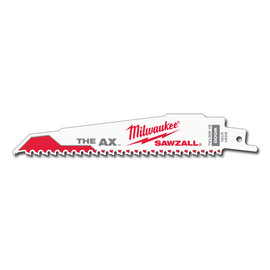 "Milwaukee -  6"" 5 TPI The Ax™ SAWZALL® Blade (5 Pk) - 48-00-5021"