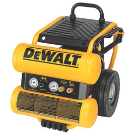 DeWALT D55154 - 1.1 HP Continuous 4 Gallon Electric Wheeled Dolly-Style Air Compressor with Panel
