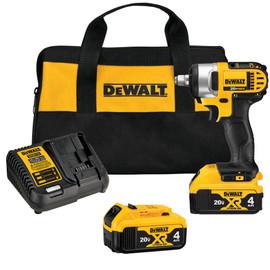 "DeWALT DCF883M2 - 20V MAX Li-Ion 3/8"" Impact Wrench (Hog Ring) (4.0Ah) w/ 2 Batteries and Kit Box"