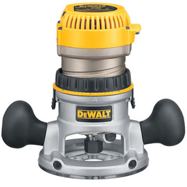 DeWALT -  2 1/4 Maximum Motor HP Electronic VS Fixed Base Router w/ Soft Start - DW618