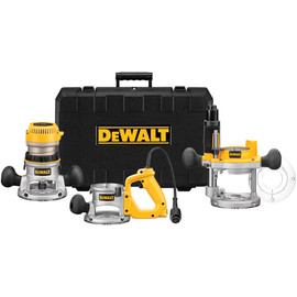 DeWALT DW618B3 - 2 1/4 Maximum Motor HP Electronic VS Three Base Router Kit
