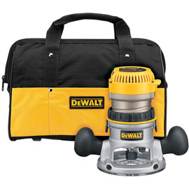 DeWALT DW618K - 2 1/4 Maximum Motor HP Electronic VS Fixed Base Router w/ Soft Start w/ Bag