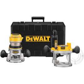 DeWALT -  2 1/4 Maximum Motor HP Electronic VS Fixed Base / Plunge Base Router Combo Kit - DW618PK