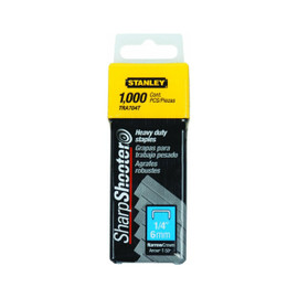 Stanley -  1000 Units 1/4-Inch Heavy Duty Staples - TRA704T