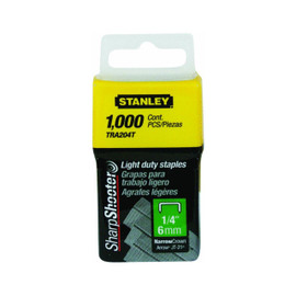 Stanley -  1/4-Inch Light Duty Staples, 1,000-Count - TRA204T