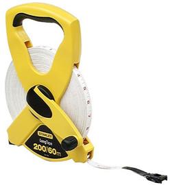 Stanley -  60m/200-Foot Open Reel Fiberglass Long Tape Rule - 34-794