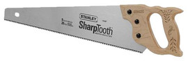 Stanley -  20-Inch , 8-Point Contractor Grade Short Cut Handsaw - 15-087